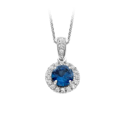 Diamond Manufacturers - Pendentifs Femme avec 19 diamanten - Platine