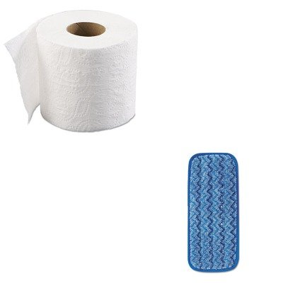 KITBWK6145RCPQ820BLU - Value Kit - 11quot; Microfiber Wall/Stair Wet Pad (RCPQ820BLU) and Boardwalk 6145 Two-Ply Bathroom Tissue (BWK6145)