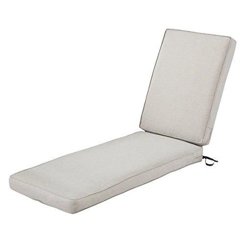 Classic Accessories Montlake Chaise Cushion Foam & Slip Cover, Heather Grey, 72x21x3