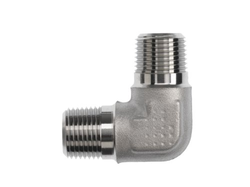 Brennan 5500-04-04-SS Stainless Steel Pipe Fitting, 90 Degree Elbow, 1/4