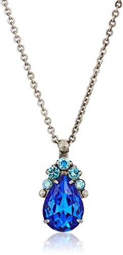 Sorrelli Ultramarine Pear Cut Crystal Pendant Necklace