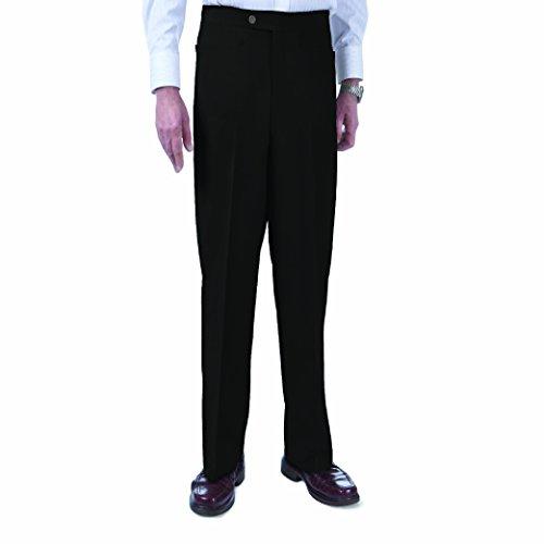 SANSABELT Men's Slim Fit Comfort-Waist Golf Pants (Black, R36)