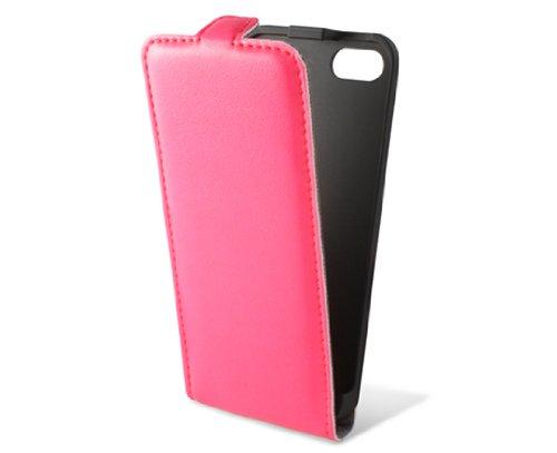KSIX B0914FU90RF Flip Up Case für Apple iPhone 5 Fluor rosa