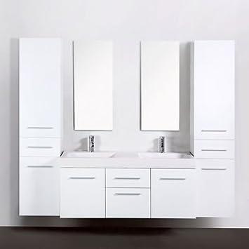 Usirama - Meuble Salle De Bain Double Vasques Think 1,3M ...