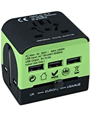International Universal Travel Adapter,Get Ready for Travel Once Again .This Adapter is Built for The World, A Great a Traveler,Covers All Countries,Europe,/America/Australia/UK