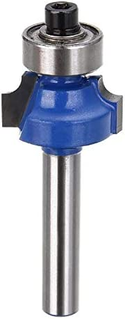 """NO LOGO ZZB-ZT, 1pc Blau 1/4"""" Radius 1/4"""" Shank Fräserbit Carbon Steel Rund Holzbearbeitungswerkzeuges (Size : 15.35mm)"""
