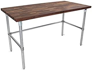 """product image for John Boos WAL-JNB09-O Blended Oil Top with Galvanized Base and Bracing, 35"""" Height, 60"""" Length, 30"""" Width, 1-1/2"""" Thick, Walnut"""