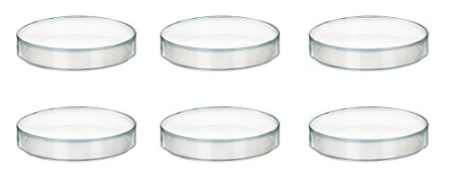 125 x 17 mm Plastic Petri Dish - Polypropylene - Pack of 6
