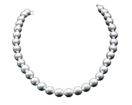 - Large White Faux Pearl Necklace Earring SET (14mm) - White Wedding Jewelry
