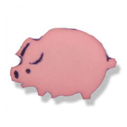 Impex Pig Shape Buttons Pink - per Pack of 100