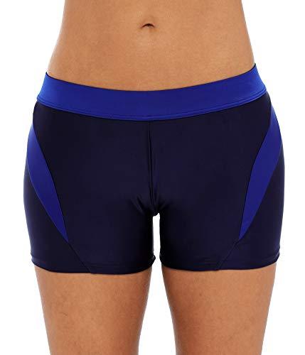 Vegatos Swim Shorts Women Athletic Board Shorts Boyleg Tankini Bottoms Black 2XL