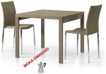 L Aquila Design Arredamenti Tables Chairs Tavolo Da Pranzo Grigio Tortora Quadrato Allungabile Cucina 664 90x90x75 Amazon It Casa E Cucina