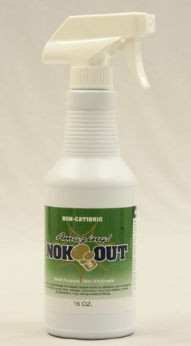 Disinfectant Deodorant Spray - Nok-Out Odor Remover and Disinfectant - 16oz Spray Bottle