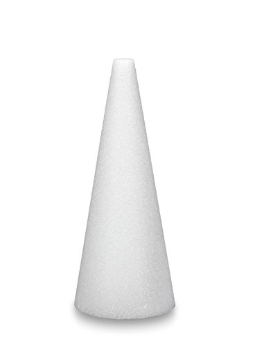FloraCraft Styrofoam Cone 3.9 Inch x 14.9 Inch White - Floral Cone