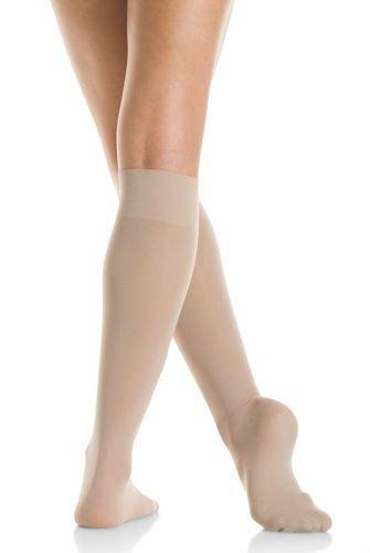 Mondor Light Opaque Knee High Skating Socks (Light Tan, Junior) by Mondor