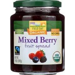 Organic Mixed Berry Fruit Spread (12-14 OZ) Organic Mixed Berry Fruit Spread