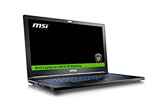 "MSI WS63 7RK-290US 15.6"" Professional Workstation Laptop Core i7-7700HQ Quadro P3000 32GB 512GB SSD NVMe + 2TB, Aluminum Black (B01N15DJVR) 