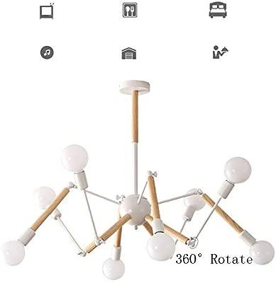 LuckyLamp Forma de Araña Lámpara Colgante De Techo 360° Rotativo ...