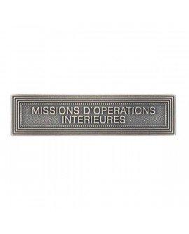 Le Comptoir Des Médailles Agrafe Missions Opérations Intérieures Argent - AGOMOINT