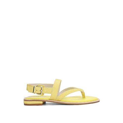 Kenneth Cole New York Tama Leather Sandal Lemon