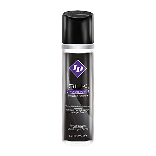 ID Silk Personal Lubricant - Water and Silicone Based Lube, 8.5 Fl Oz Bottle