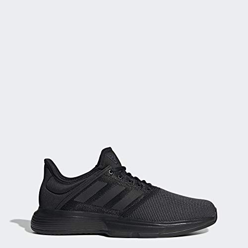 adidas Men's GameCourt Tennis Shoe, Black, 10.5 M US