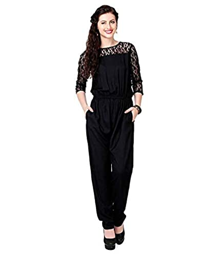 737ada3f7d48 JAI SHREE BEBO Women Regular Fit Rayon Jumpsuit (JSB0034  P Black ...