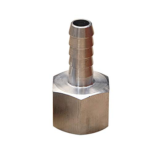 Npt Female Pipe Coupler - Metalwork 304 Stainless Steel Barb Fitting, Coupler Adapter, Barbed Connector to Female Pipe, 1/4