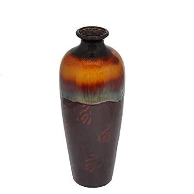 Essentials Décor Entrada Collection Ceramic Vase, 6.5 by 16-Inch