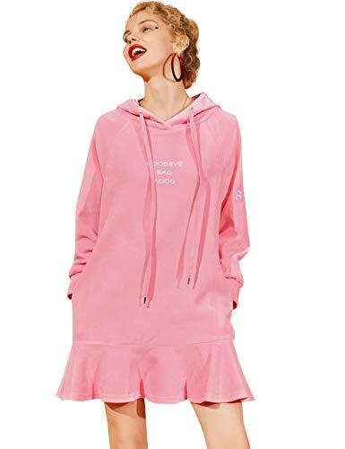 8732e04f00d7e Elf Sack Women Velvet Blouse Shirt Dress
