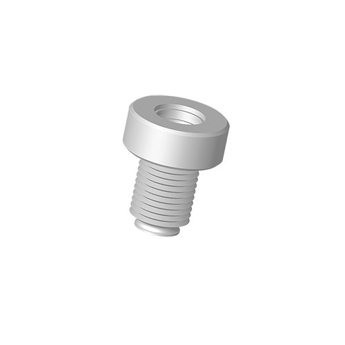 ACE Glass 13290-15 PTFE Rotary Evaporator Vial Connecting Adapter, 15 mm Ace-Thread to 15-425 GPI Vial, Fetfe O-Ring