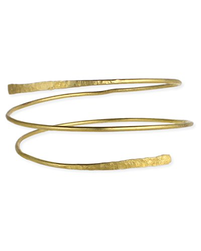 Sundance Beach Gold Hammered Wrap Armband (Arm Band Jewelry)