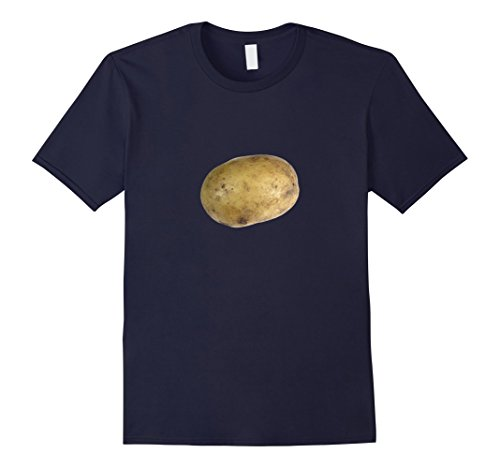 Men's Real Potato Photo Funny Starchy Vegetable Side Dish T-Shirt Medium Navy