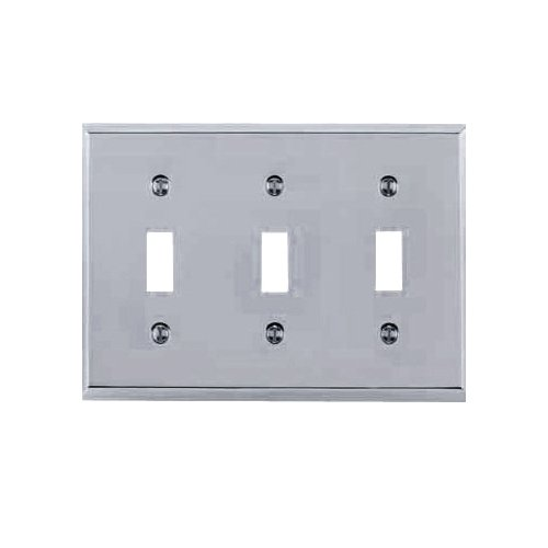 Double Chrome Plate (Baldwin 4770.260.CD Classic Square Beveled Edge Double Toggle Switch Plate, Chrome)