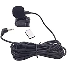 Vosarea Helmet Microphone Music Stereo GPS Collar Clip Mic 3.5mm for Motorcycle Motorbike (Black)