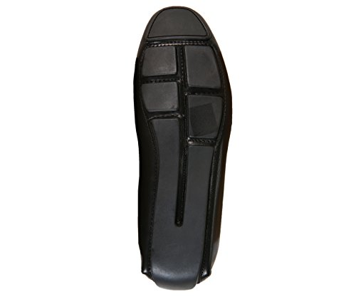 Amali Homme Gravier Grain Lisse Conducteur Classique, Chaussure De Conduite Confortable Avec Ornement, Style Sonny Noir
