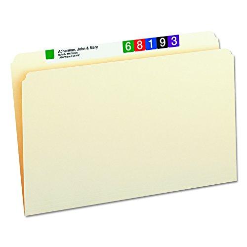 Smead File Folder, Straight-Cut Tab, Legal Size, Manila, 100 per Box (15300)