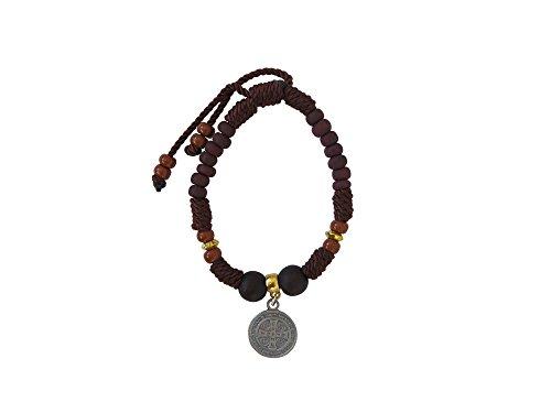 Brown Saint Benedict Thread Bracelet Pulsera Café de hilo de San Benito