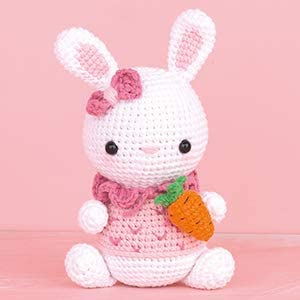 Learn to Diy Crochet Gift Doll Little Bunny Suzy Diy Amigurumi Kit Cute Amigurumi Pattern Large Crochet Toy CROCHET KIT AMIGURUMI