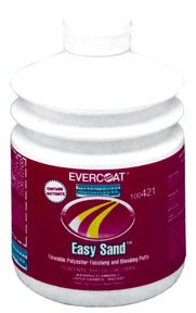 Sand Body Filler - Fibreglass Evercoat 421 EASY SAND Flowable Polyester Finishing and Blending Putty - 30 oz. Pumptainer