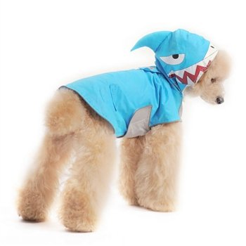 Xs Shark Dog Raincoat by Dogo bluee
