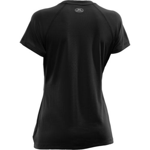Under Armour Women's Tech S/S Tee, Black/Silver XS (US 0-2) by Under Armour (Image #3)