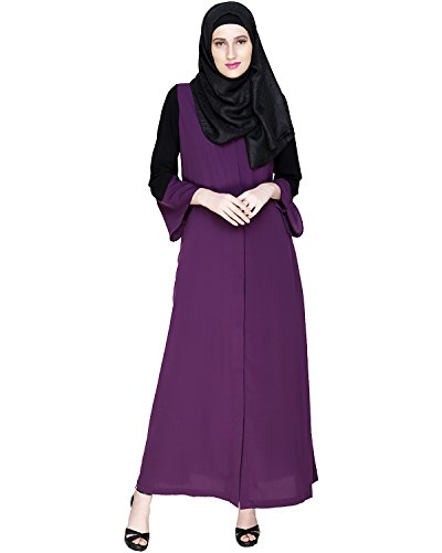 Modest Forever Folksy Purple Abaya Burkha for Women