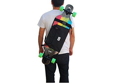(Backpack for Carrying The Complete Longboard, Skateboard, or Surf Skate, Great Gift Idea. Black.)