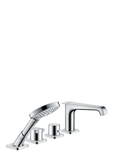 - AXOR Citterio E 4-Hole Thermostatic Roman Tub Set Trim with 1.8 GPM Handshower
