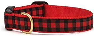 product image for Up Country- NEW Red Buffalo Check Dog Collar-Medium!!