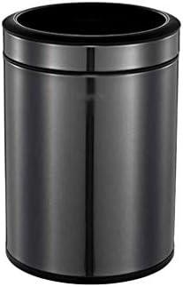滑らかな表面 ステンレス鋼のゴミ箱、防水ラウンドごみ箱蓋なしのバスルームホテルのキッチンリビングルームのゴミ箱について リサイクル可能なデザイン (Color : C, Size : 20.5*20.5*29CM)