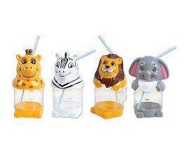 Zoo - Jungle Animal Sipper Cup Assortment (1 dz)