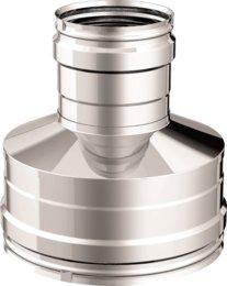 spessore 0,5 mm acciaio inox diametro 80 mm femmina e diametro 160 femmina Articolo fumisteria Linea Legna e pellet:riduttore maggioratore F//F