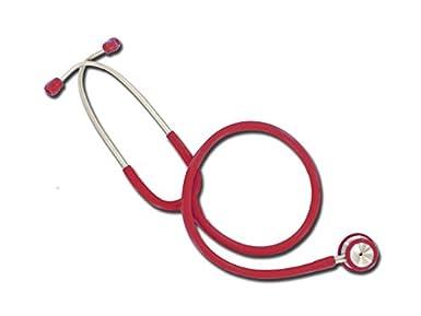 Estetoscopio Wan de doble cabeza, color burdeos, ligero y cromado para enfermera, estetoscopio